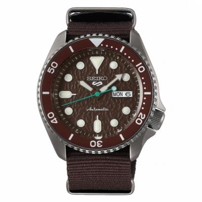 SEIKO 5 sport運動潮流機械腕錶/咖啡色4R36-07G0E(SRPD85K1)