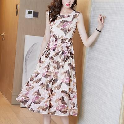 【KISSDIAMOND】氣質顯瘦雪紡洋裝(1色M-3XL/KDD-9212)