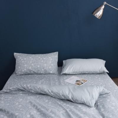 Jumendi喬曼帝 200織精梳純棉-加大床包三件組-小花漫舞