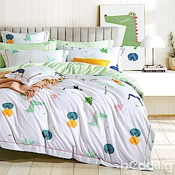 BEDDING-3M專利+頂級天絲-單人床包枕套二件組-一起耍吧