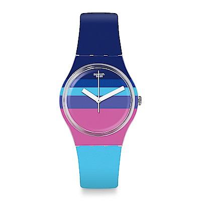 Swatch THINK FUN系列 AZUL'HEURE 俏皮藍彩手錶