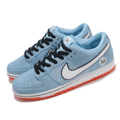 Nike 滑板鞋 SB Dunk Low Pro 男鞋 基本款 厚鞋舌 麂皮 球鞋 穿搭 藍 白 BQ6817401