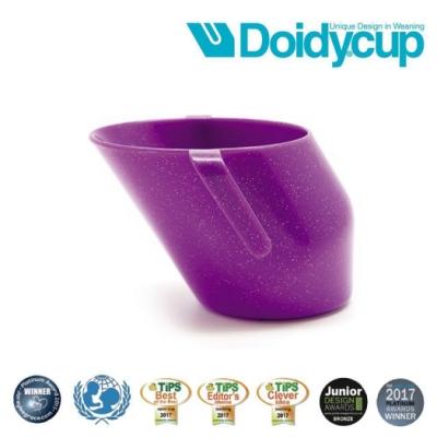 【英國Doidy cup】彩虹學習杯/訓練杯/刷牙杯-星空紫(專利造型設計 喝水看的見)
