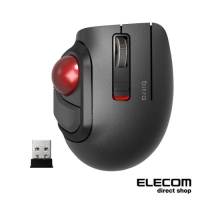 ELECOM bitra可攜式無線靜音軌跡球滑鼠(姆指)-無線2.4GHz USB