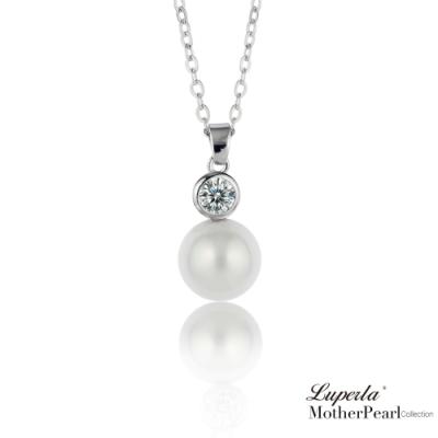 大東山珠寶 晶鑽貝珠項鍊 璀璨