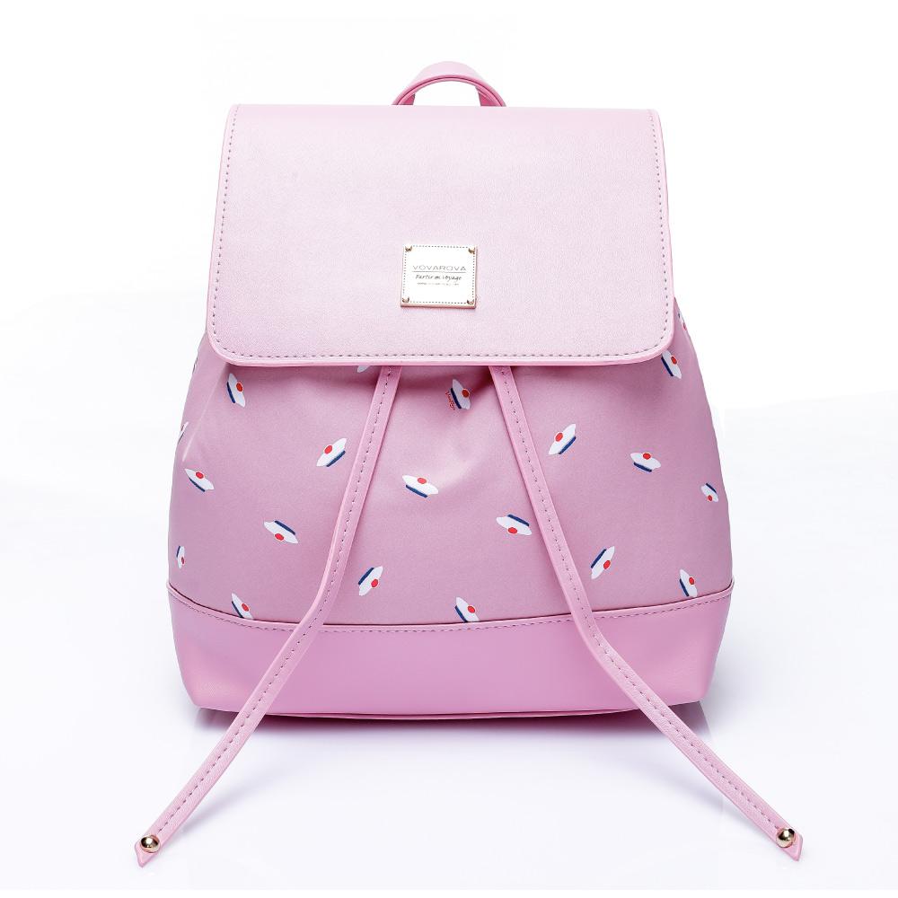 VOVAROVA空氣包-翻蓋束口後背包-French Pom Pom(Pink)