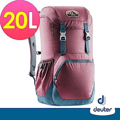 【deuter德國】WALKER 20L休閒旅遊背包3810617紅/藍