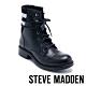STEVE MADDEN-AZURE 運動風拼接風綁帶短筒靴-黑色 product thumbnail 1