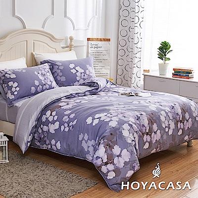 HOYACASA雅頌 加大四件式天絲柔棉兩用被床包組