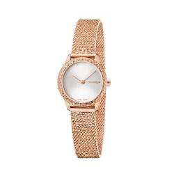 Calvin Klein CK 優雅玫瑰金典雅腕錶(K3M23U26)24mm
