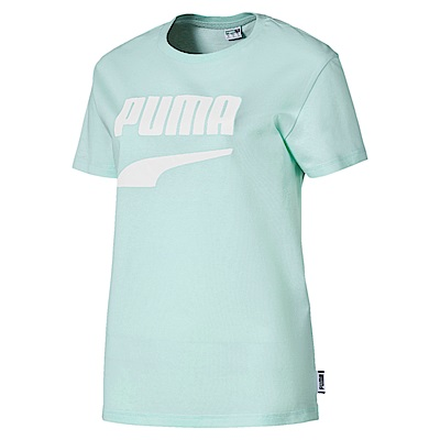PUMA-女性流行系列Downtown短袖T恤-水漾青-歐規