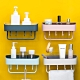 【Cap】廚房衛浴雙色雙層瀝水置物架/掛架 product thumbnail 1