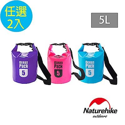 Naturehike 500D戶外超輕量防水袋 收納袋 漂流袋5L 2入組