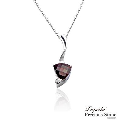 大東山珠寶 1月星座 頂級天然石榴石 14K白金項鍊 3克拉