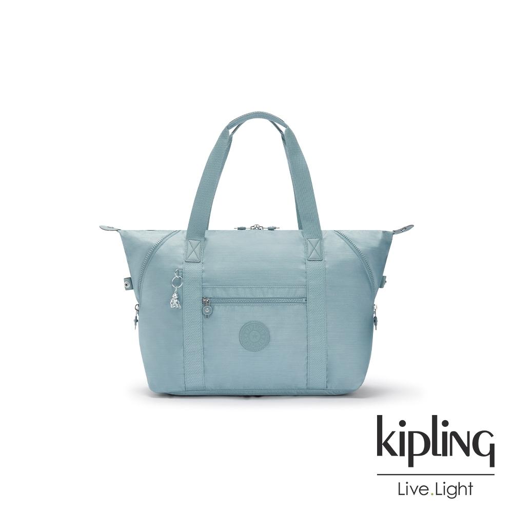 Kipling 寧靜海洋藍手提側背包-ART M