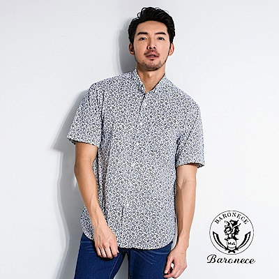BARONECE 休閒雅緻印花襯衫(518418-10)