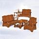MUNA 3031型實木組椅(全組)  194X78X94cm product thumbnail 1