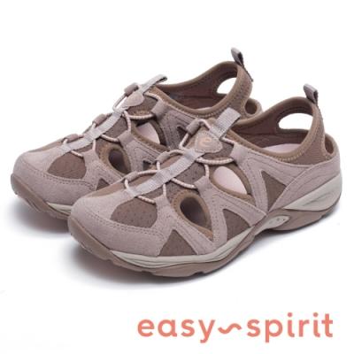Easy Spirit-seEARTHEN 多彩多色 後跟鏤空撞色涼休閒鞋-藕色