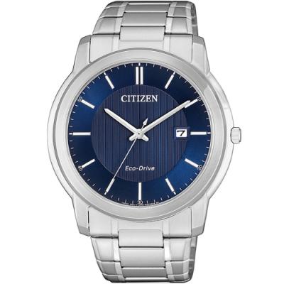 CITIZEN 光動能時尚紳士錶(AW1211-80L)43mm