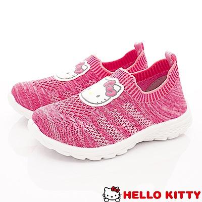 HelloKitty童鞋 針織休閒鞋款 SE19808粉(中小童段)