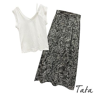 肩帶背心花裙兩件式套裝(附綁帶) 共二色 TATA-F