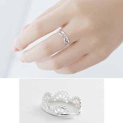 梨花HaNA 韓國925銀蕾絲指間呢喃戒指