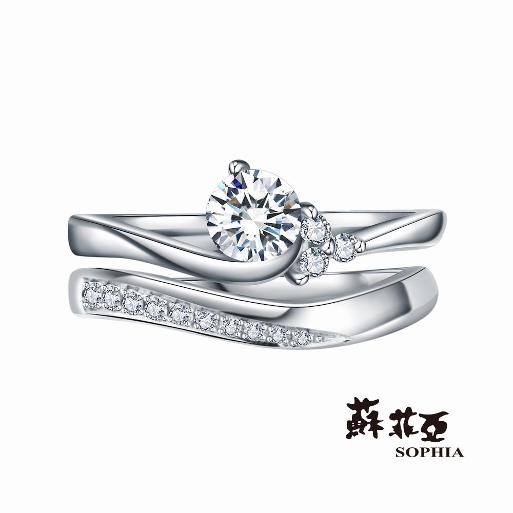 SOPHIA 蘇菲亞珠寶 - 華麗愛情 0.30克拉 18K白金 鑽石戒指