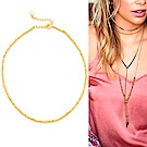 GORJANA 優雅金色頸鍊 細緻金塊設計 鑲18K金 Playa Beaded