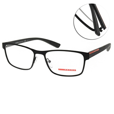 PRADA光學眼鏡 經典方框款/霧黑 #VPS50G DG0-1O1