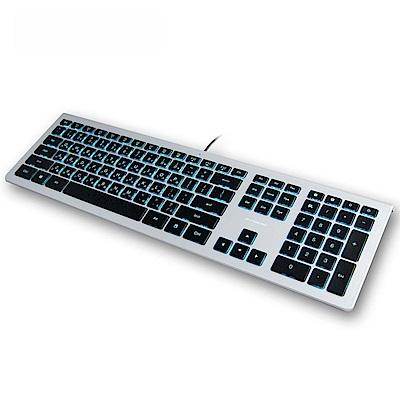 B.FRIEND 剪刀腳發光薄型有線鍵盤(MAC專用)