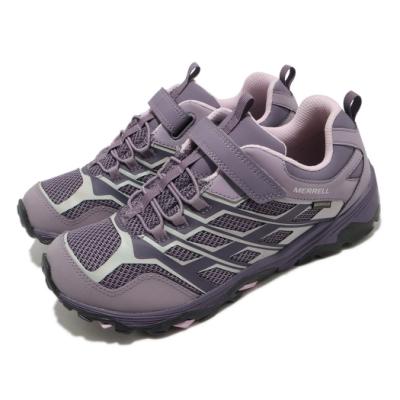 Merrell 戶外鞋 Moab FST Waterproof 女鞋 登山 越野 魔鬼氈 透氣 防水 中大童 紫 粉 MK164180