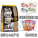 紐頓T22無穀火雞貓糧6.8公斤+貓倍麗珍饌餐盒12盒+CIAO肉泥3包【組合購】