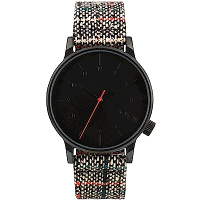 KOMONO Winston Woven 腕錶-勃根地/41mm