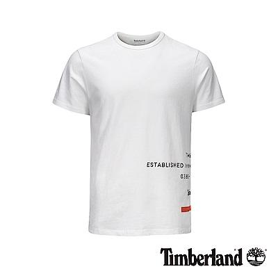 Timberland 男款白色反光印花短袖T恤|A1ZWC