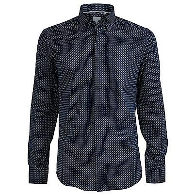 CR7-Slim Fit 深藍白樹葉襯衫(8705-74900-42)