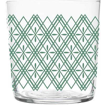 EXCELSA窗花玻璃杯綠370ml
