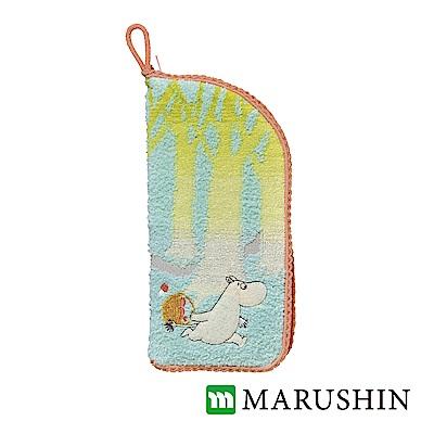 日本丸真 Moomin速吸雨傘水瓶拉鍊收納套-在沉默森林奔跑