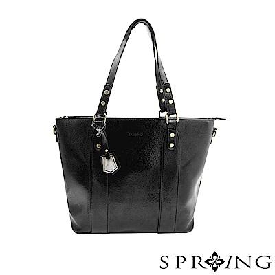 SPRING-漂亮簡單生活A4托特包-迷人黑
