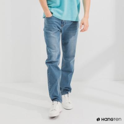 Hang Ten-男裝-環保再生紗-經典款STRAIGHT FIT直筒中腰丹寧褲-淺藍色
