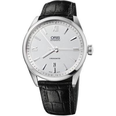 ORIS 豪利時 ARTIX 天文台日期機械錶-銀x黑/42mm