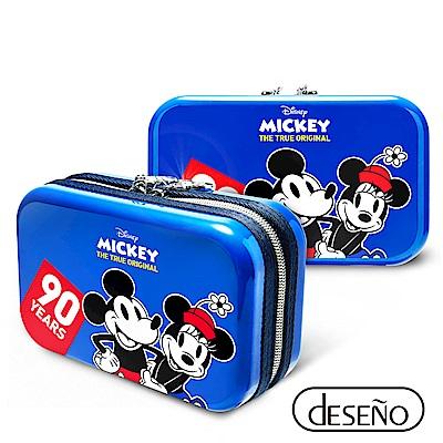 Disney 米奇系列90週年限量紀念航空硬殼包 經典款-藍色