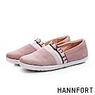 HANNFORT CALIFORNIA荷葉織帶甜美帆布鞋-女-唯美粉