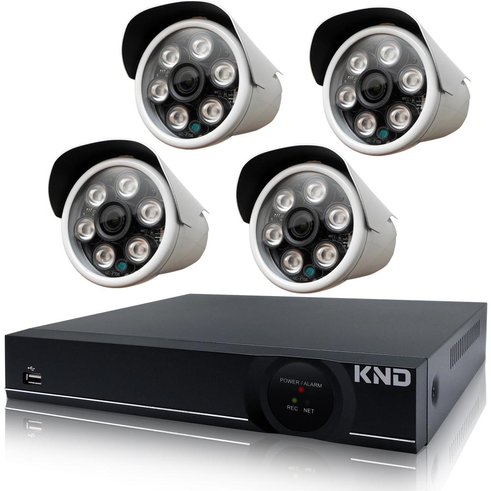 奇巧 4路1080P台製KND單硬碟款主機-含四合一SONY 200萬攝影機x4 @ Y!購物