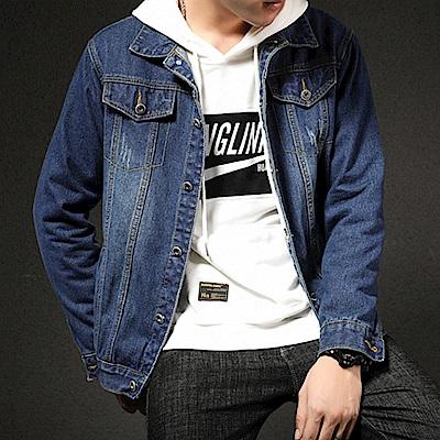 BuyGlasses 韓感帥氣雙口袋牛仔外套