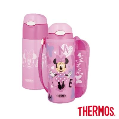 THERMOS膳魔師不鏽鋼真空保冷瓶0.4L 兒童水壼-米妮 (FHL-401FDS-PHT)