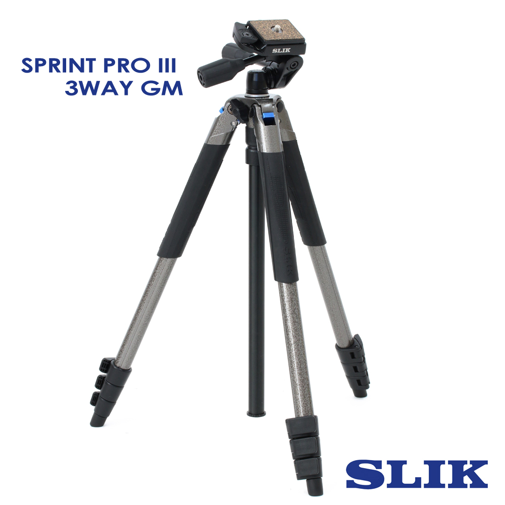 日本 SLIK Sprint Pro III GM 附 SH-704E 三向雲台 product image 1