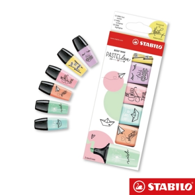 STABILO BOSS Mini 粉彩系列螢光筆六入