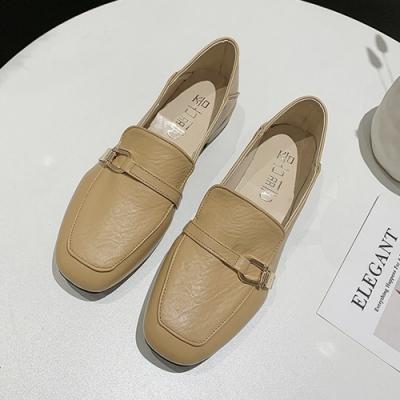KEITH-WILL時尚鞋館 韓時尚典雅簡約樂福鞋-杏
