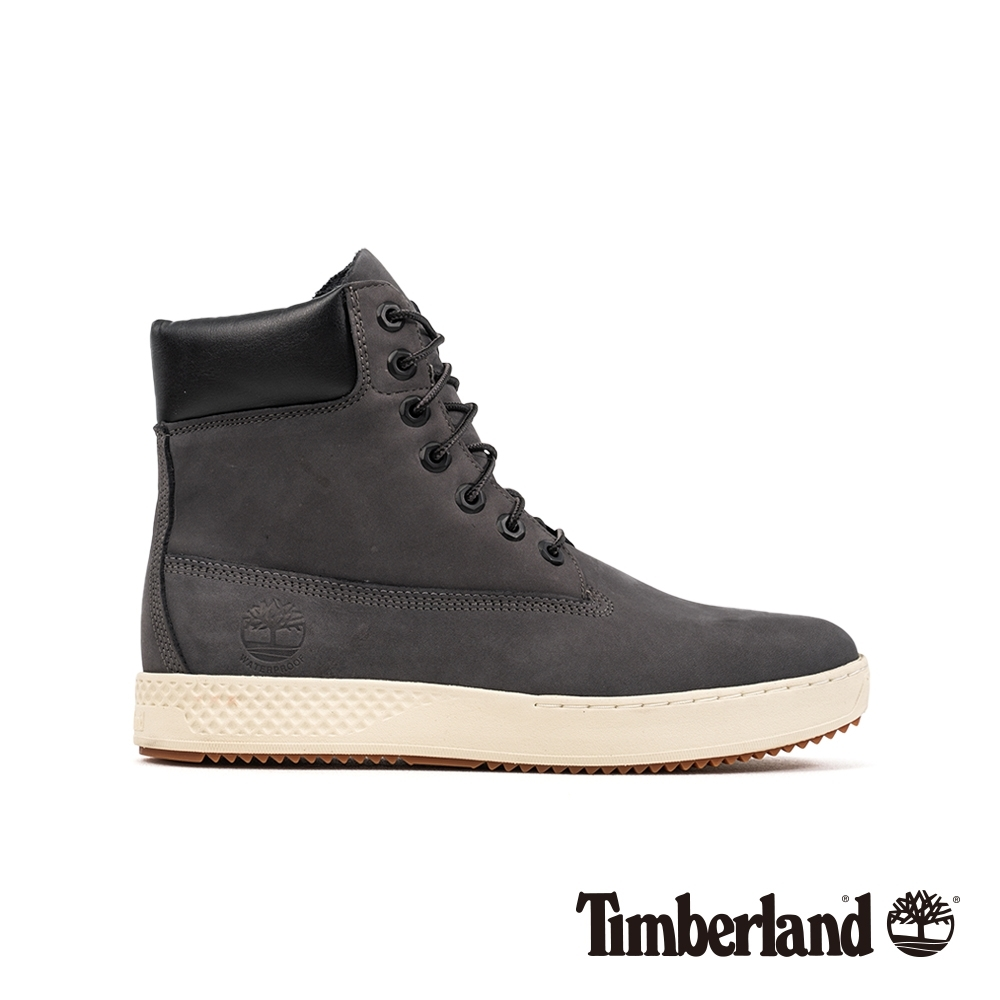 Timberland 男款深灰色磨砂革防水繫帶6吋運動靴 A254M