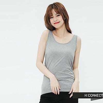 H:CONNECT 韓國品牌 女裝-純色圓領背心-灰